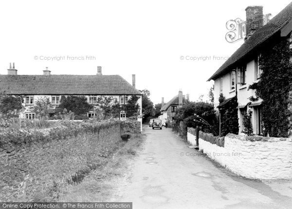 Bossington, The Village And Bossington Farm c.1955