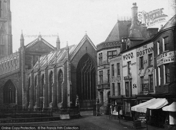 Boston, By St Botolph's Church 1889