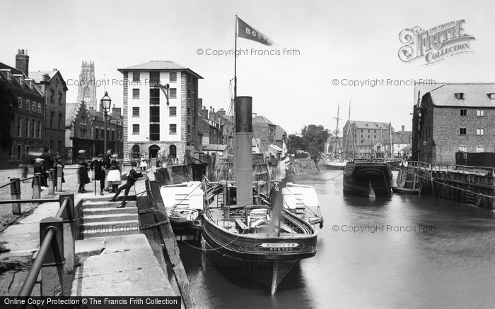 Photo of Boston, Doughty Quay 1890