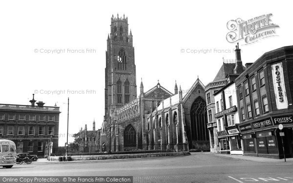 Boston, St Botolph's Church c.1955