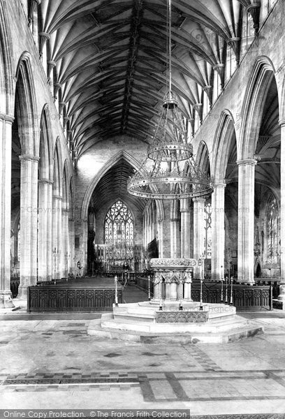 Boston, St Botolph's Church, The Interior 1893