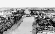 Boston, The Sluice, Bridge And River Witham c.1955