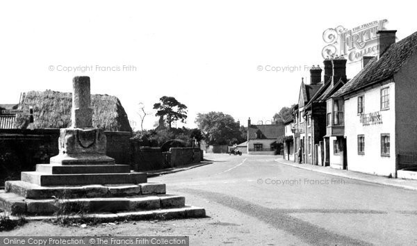 Bottesford, Market Street And The Whipping Post c.1955