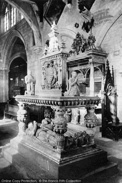 Bottesford, St Mary's Church, The Earl Of Rutland's Monument 1890