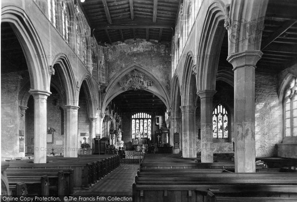 Bottesford, The Church, Interior c.1955
