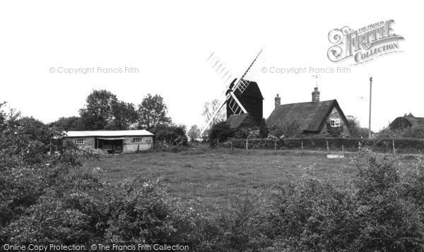 Bourn, Bourne Windmill c.1955