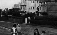 Bournemouth, A Family Walk, East Overcliff Drive c.1955