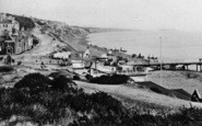 Bournemouth, Beach From The West Cliff c.1875
