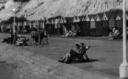 Bournemouth, Durley Chine Beach Huts c.1955