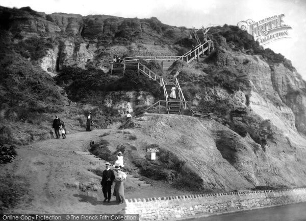 Bournemouth, East Cliff Steps 1908