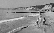 Bournemouth, Family On The Beach, West Cliff c.1950