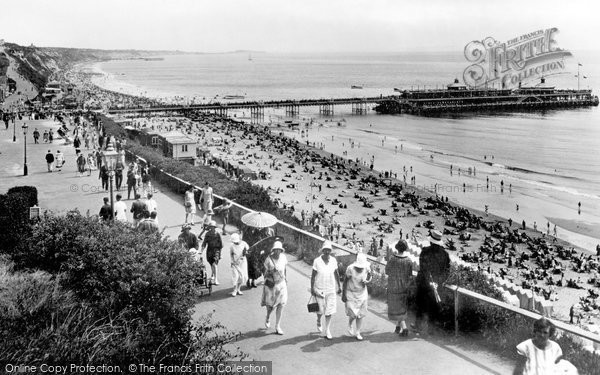 Bournemouth, From West Cliff 1925