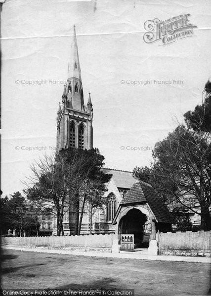 Bournemouth, St Peter's Church And Lychgate 1887