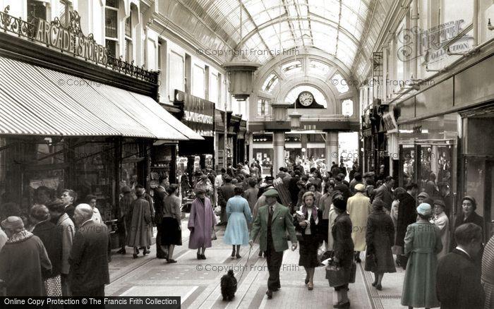 Bournemouth, The Arcade c.1955