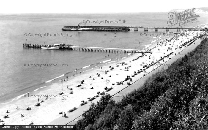 Bournemouth, The Beach And The Piers c.1950