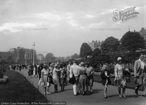 Bournemouth, The Gardens 1931