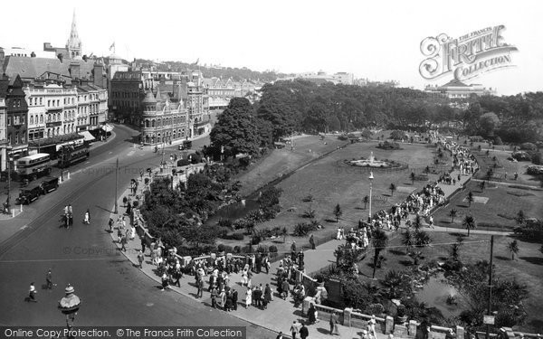Bournemouth, The Gardens 1933