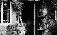 Bourton-on-The-Water, The Studio Café Doorway c.1955
