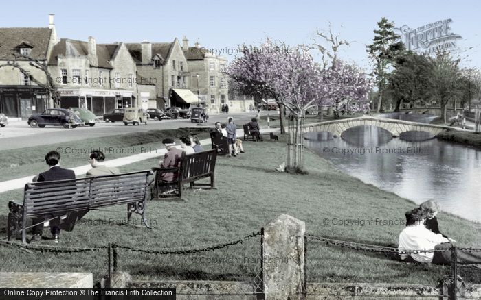 Bourton On The Water, View From The Memorial c.1955