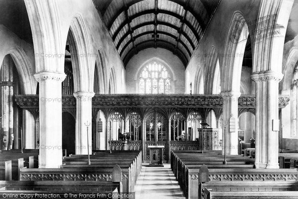 Bovey Tracey, Church Interior 1907