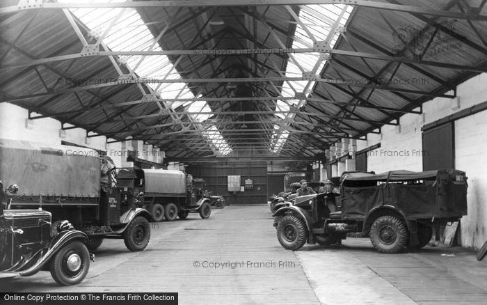 Bovington, A.F.V. Garage c.1955