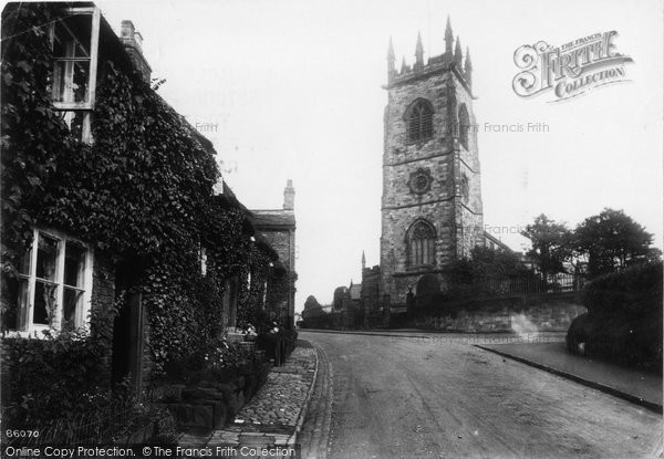 Bowdon, Church And Old Cottages 1913