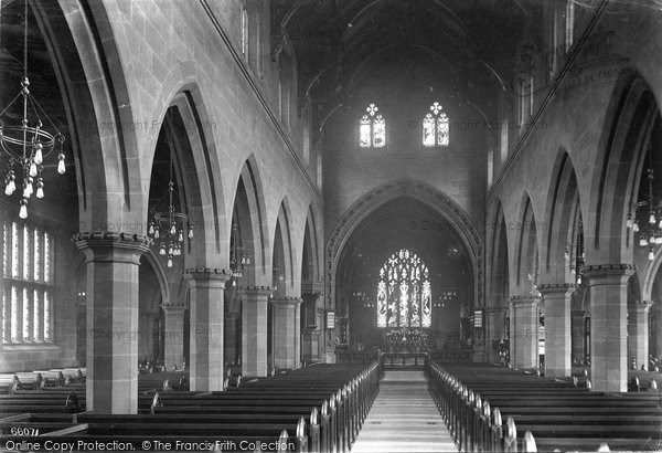 Bowdon, Church Interior 1913