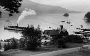 Bowness-On-Windermere, A Steamer Departing 1912