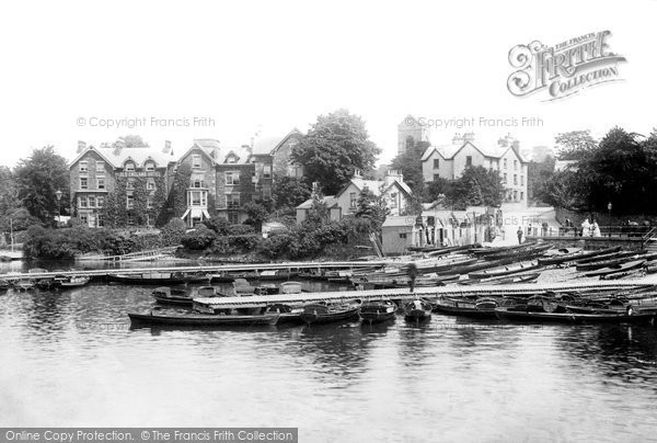 Bowness On Windermere, Boat Station And Old England Hotel 1893