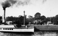 Bowness-On-Windermere, Paddle Steamer At The Pier 1887