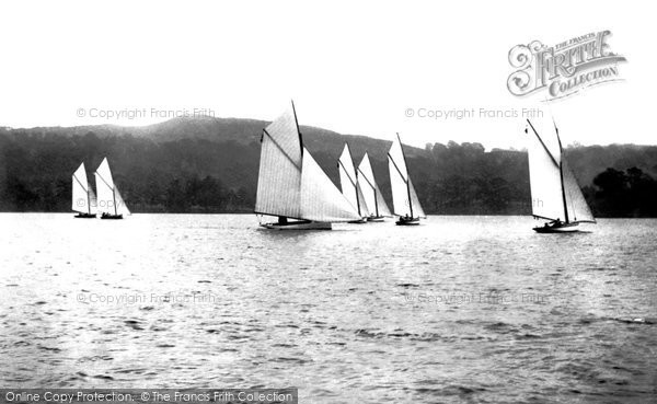 Bowness On Windermere, Sailing Boats 1896