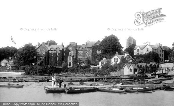 Bowness On Windermere, The Boat Station 1896
