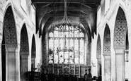 Bowness-On-Windermere, The Church Interior 1887