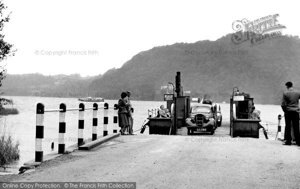 Bowness On Windermere, The Ferry Arriving At The Nab c.1955