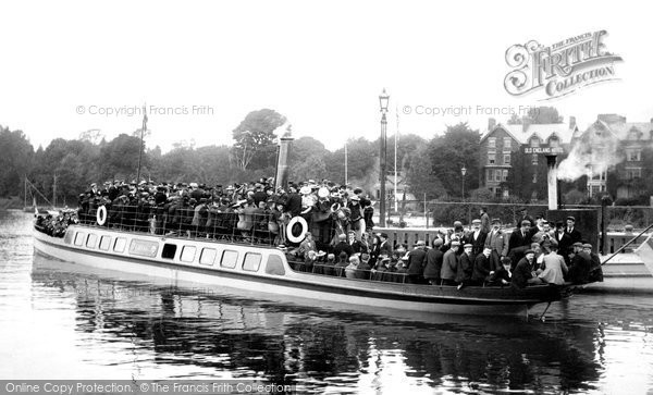 Bowness On Windermere, The Pleasure Steamer, Teal 1896