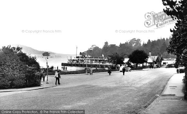 Bowness On Windermere, The Steamer Pier And Promenade c.1955