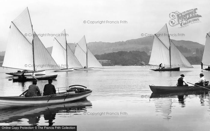 Bowness On Windermere, Yachts 1896