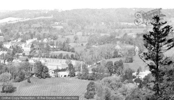 Box Hill, View Over Burford Bridge 1924