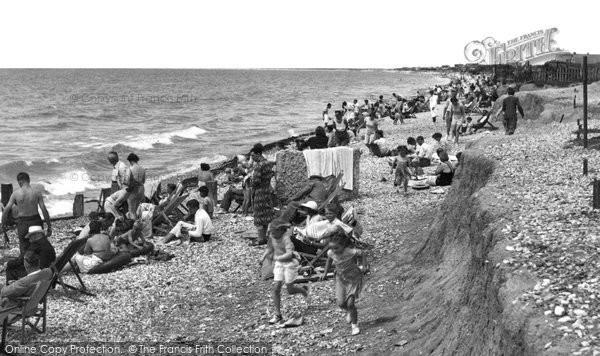 Bracklesham Bay, The Beach c.1955