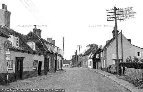 Bradfield, The Street c.1955