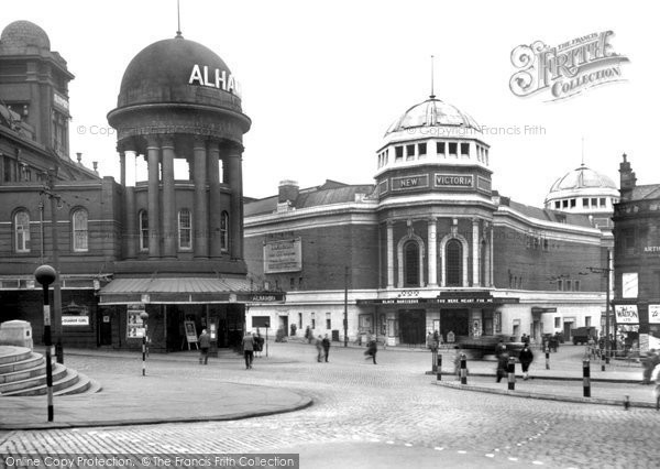 Bradford, Alhambra And New Victoria Theatre c.1950