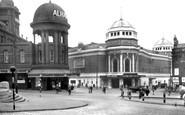 Bradford, Alhambra And New Victoria Theatre c.1950