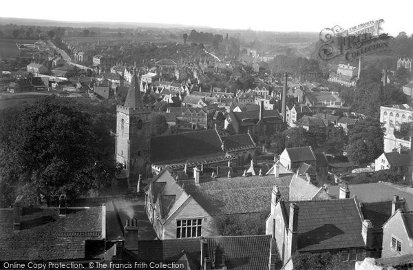Bradford On Avon, Elevated View c.1900