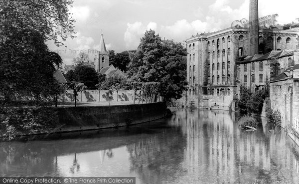 Bradford On Avon, River Avon c.1955