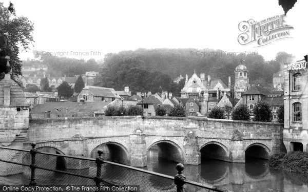 Bradford On Avon, The Bridge And Town c.1955