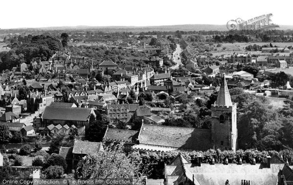 Bradford On Avon, View From Tory c.1955