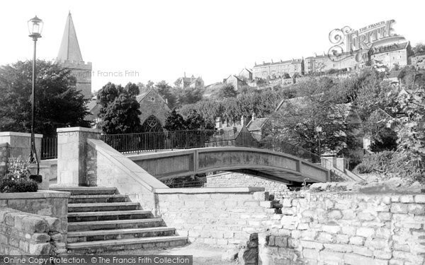 Bradford On Avon, View Of Three Churches And New Bridge c.1965
