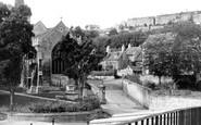 Bradford-on-Avon, View Of Three Churches From New Bridge c.1965