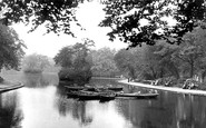 Bradford, The Lake, Lister Park c.1950