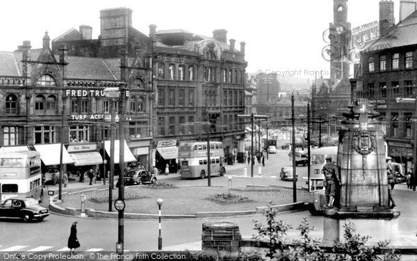 Bradford, Towards Town Hall Square c.1955